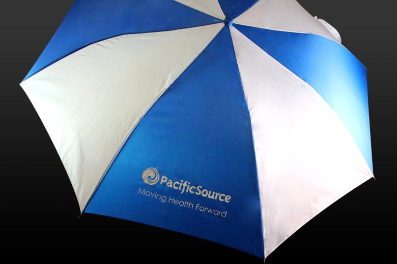 Umbrellas keep your customers dry while promoting your brand