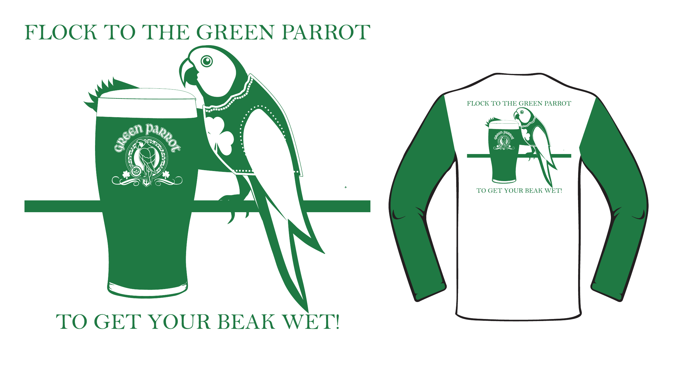Green Parrot Full Back