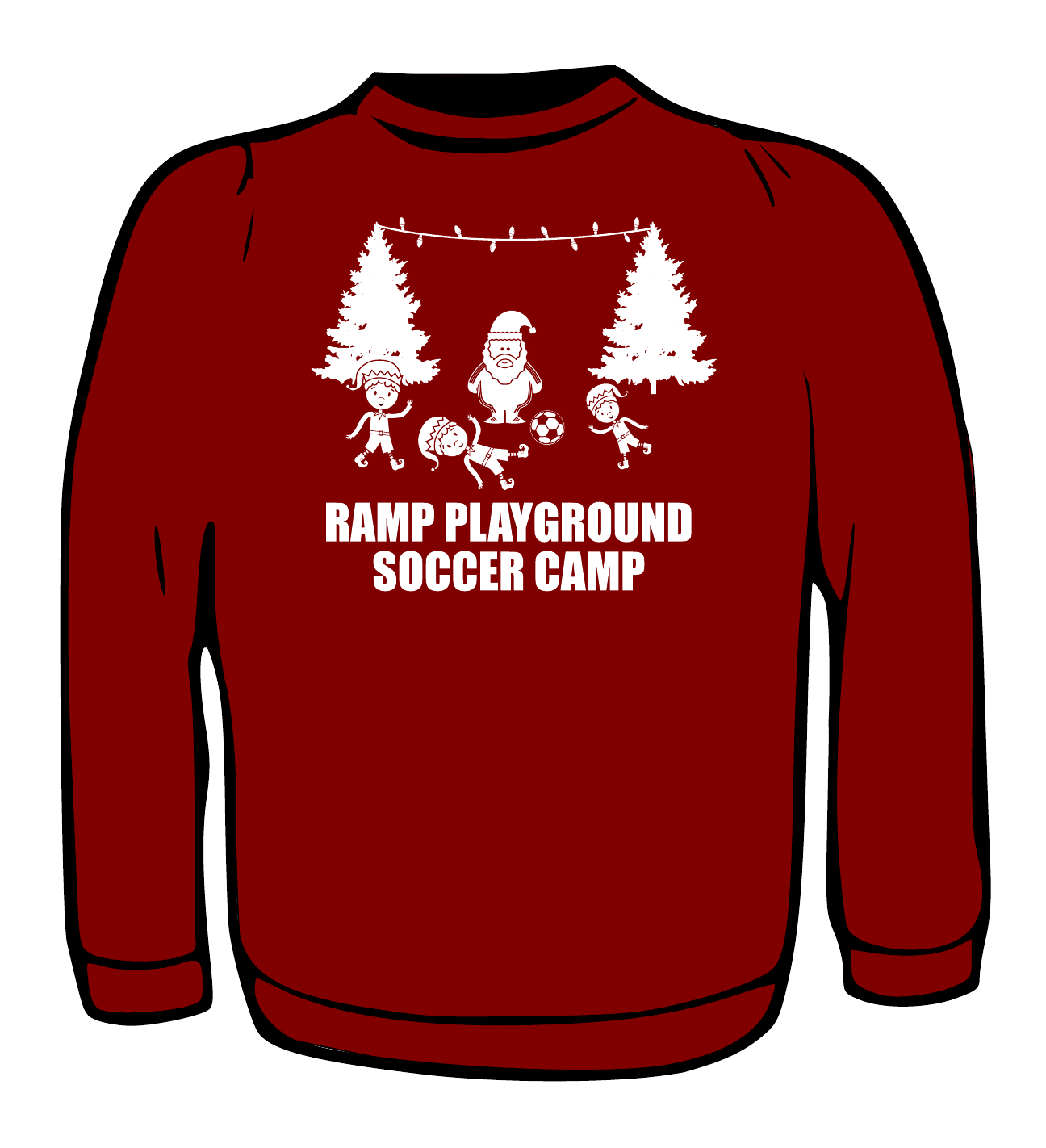 Santa Ugly Sweater Project Ramp Soccer Camp