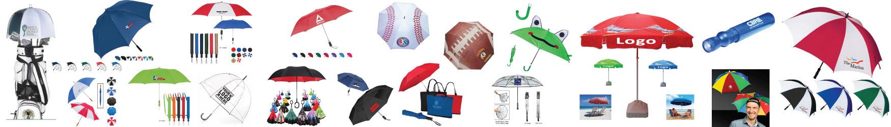 custom logo umbrellas, vented umbrellas, telescoping umbrellas, texas branders