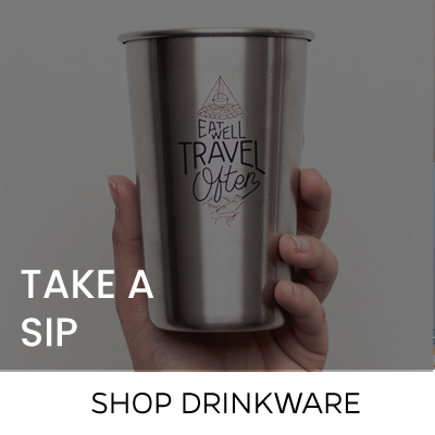hand holding cup with your logo here