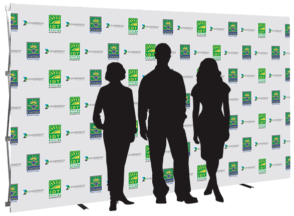 12ft- step & repeat- back wall- display- local- trade show- VA- Undercover Printer
