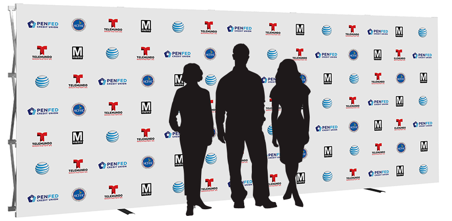 20ft- step & repeat- back wall- display- local- trade show- VA- Undercover Printer