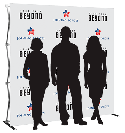 8ft- step & repeat- back wall- display- local- trade show- VA- Undercover Printer