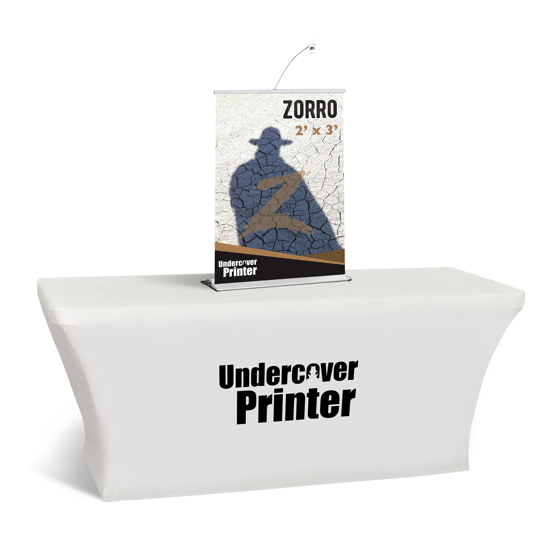 Zorro- 2x3- table top- banner- table top banner- display- trade show- local- VA- Undercover Printer