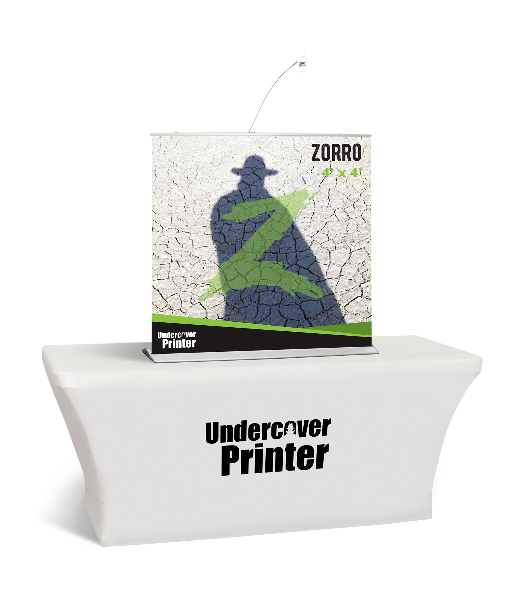 Zorro- 4x4- table top- banner- table top banner- display- trade show- local- VA- Undercover Printer