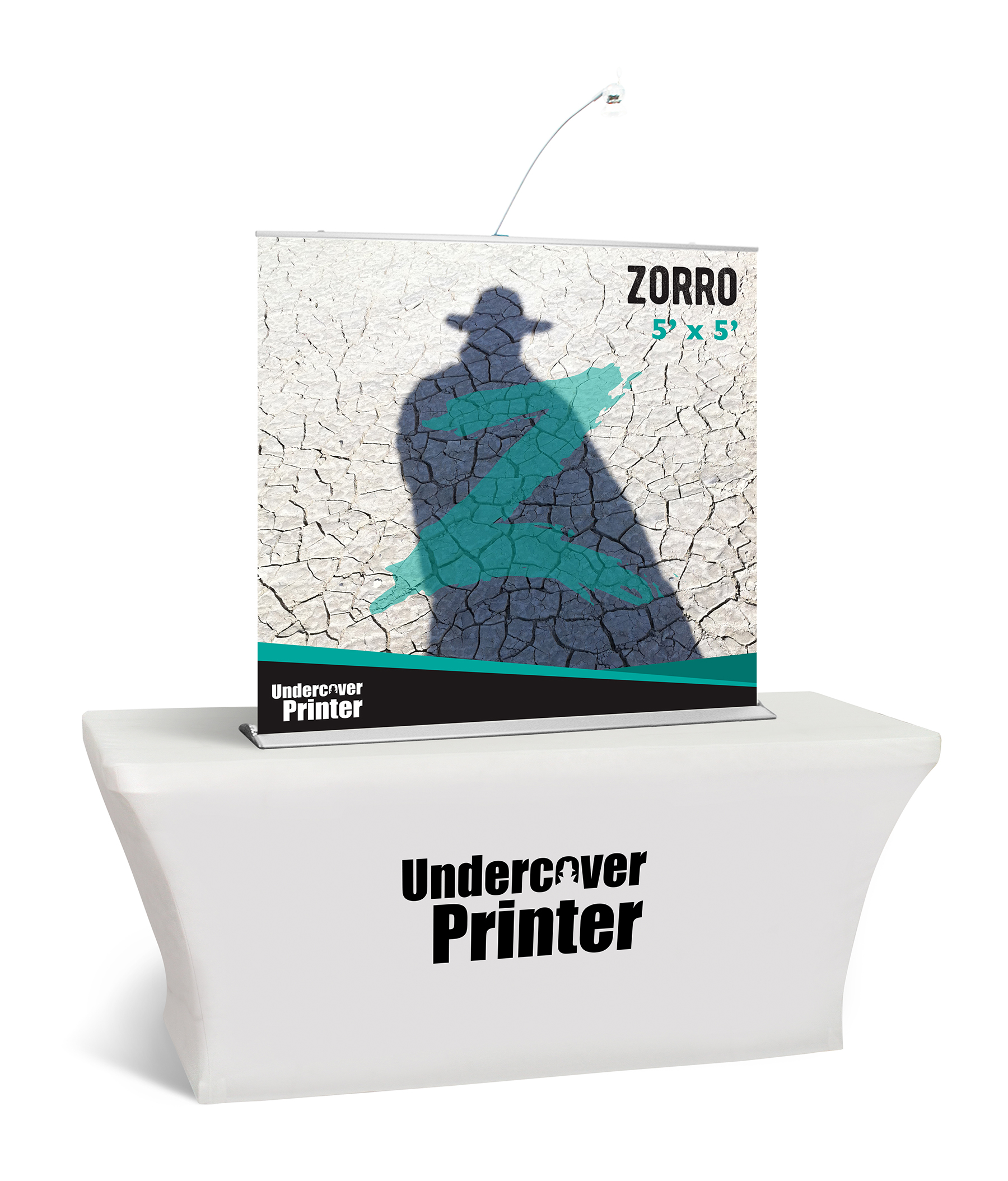 Zorro- 5x5- table top- banner- table top banner- display- trade show- local- VA- Undercover Printer