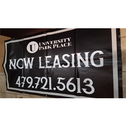 vinyl banner for apartment complex
