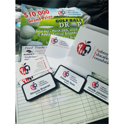 custom envelopes, business cards, flyers and name badges for non-profit