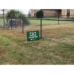 Yard sign for fence company