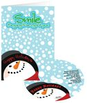 Custom Snowman Smile Holiday Greeting Card with CD