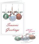 Custom Three Ornaments Season's Greetings Card with Matching CD