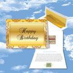 Custom Cloud Nine Birthday Music Download Gold Greeting Card w/ Happy Birthday
