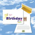 Custom Cloud Nine Birthday Music Download Greeting Card w/ There's A Buzz About Your Birthday