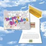 Custom Cloud Nine Birthday Music Download Greeting Card w/ Happy Birthday Confetti