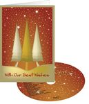 Custom On Golden Trees Holiday Greeting Card with Matching CD