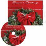 Custom Season's Greetings Ribbon Greeting Card with Matching CD