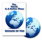 Custom World A Better Place Greeting Card with Matching CD