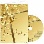 Custom Gold Ribbon Greeting Card with Matching CD