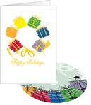 Custom Wreath of Gifts Holiday Greeting Card with Matching CD