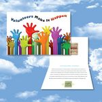 Custom Cloud Nine Volunteer Music Download Greeting Card w/ The Winner in You & We Think the World