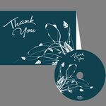 Custom Thank You Blue & White Card with CD