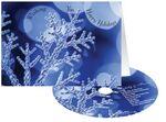 Custom Blue Snowflake Holiday Greeting Card w/ Matching CD