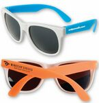 Custom Neon Sunglasses w/White Frame