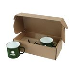 Custom 16 Oz. Speckle-It Camping Mugs Gift Box Set