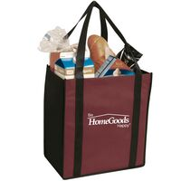 Non-Woven Two Tone Grocery Tote Bag