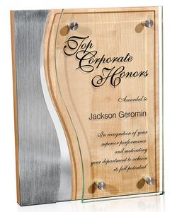 Trio Wave Stainless Plaque