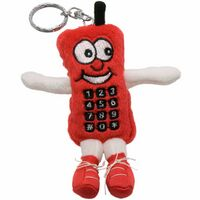 "4"" Red Cell Phone Key Chain"