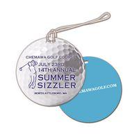 Plastic Golf Ball Design Bag Tag