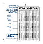 Custom Tip Table Card