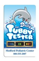 Stock Dolly the Tubby Tub Tester Card w/Temperature Strip