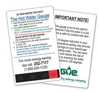 Hot Water Temp Testing Card
