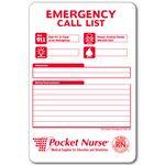Dry Erase Emergency / Storm Preparation Call List - Plastic Sign