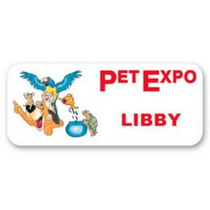 Name Badge w/Personalization (1.5x3.5) Rectangle