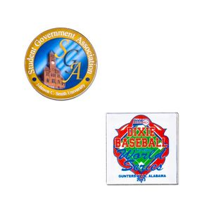Laminated Full Color Metal Lapel Pin