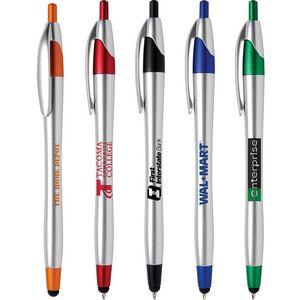 Javalina (TM) Chrome Stylus Pen (US Pat. 8,847,930 & 9,092,077)