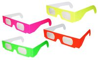 3D Fireworks/Diffraction Glasses/Lazer Shades - PLAIN NEON STOCK