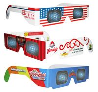 3D Fireworks/Diffraction Glasses/Lazer Shades - CUSTOM PRINTED