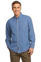 Port & Company® Long Sleeve Value Denim Shirt