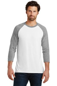 District Made Mens Perfect Tri 3/4 Sleeve Raglan Shirt