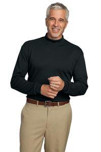 Port Authority Mens Interlock Knit Mock Turtleneck Shirt