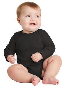 Rabbit Skins Infant Long Sleeve Baby Rib Bodysuit