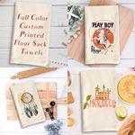 Custom Natural Vintage Flour Sack Towel with Custom Print