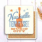 Square Absorbent Stone Coaster with Custom Print - Basic Print