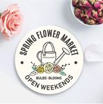 Custom Custom Printed Round Absorbent Stone Coaster - Basic Print