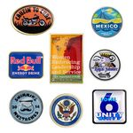 Custom Printed Dome Lapel Pins - Stock Shapes - 4 Day USA Production